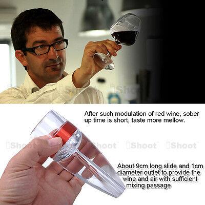 Pour Spout Unique Decanter Essential RED Wine Mini Quick Aerator Filter pouch 12