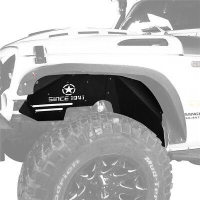 Hooke Road Jeep Wrangler JK 07-18 Front Inner Fender Liners w/ Since 1941 Logo 6
