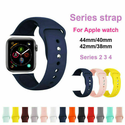 Replacement Silicone Soft Strap Band For Apple Watch Series 5/4/3/2 38/40/42/44 6