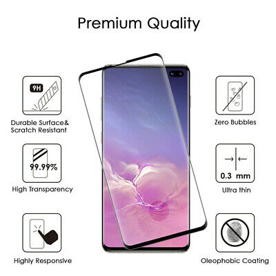 NUGLAS Tempered Glass Screen Protector Samsung Galaxy S10 5G S9 S8 Plus Note 9 8 11