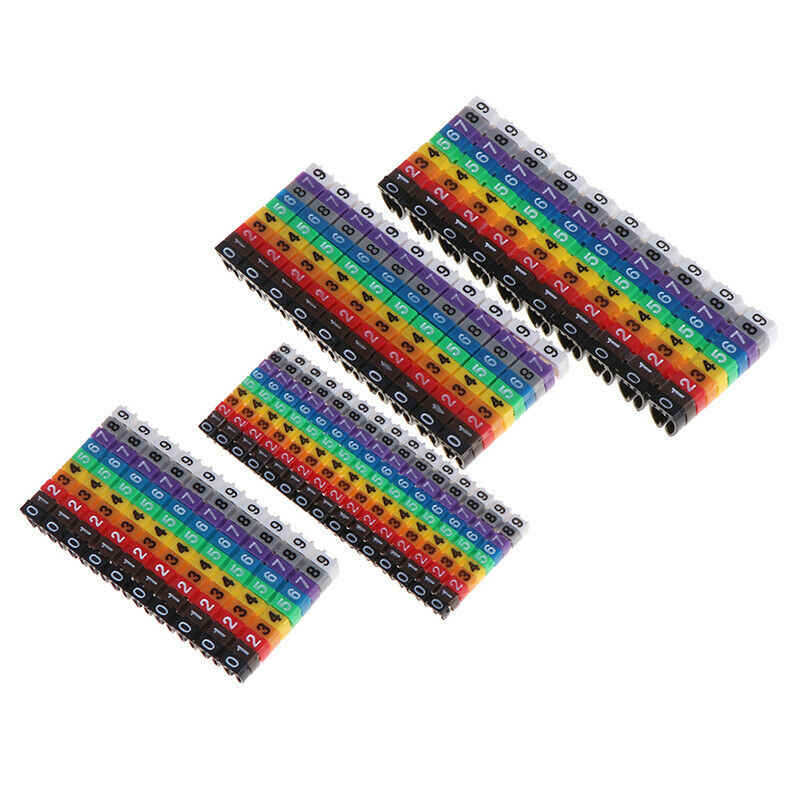 Cable Markers Colourful C-Type Marker Number Tag Label For Wire 1.5/2.5/4/ 6mES 2