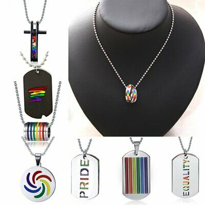 Silver Stainless Steel Men Women Punk Necklace Pendant Leather Chain Couple Gift 3
