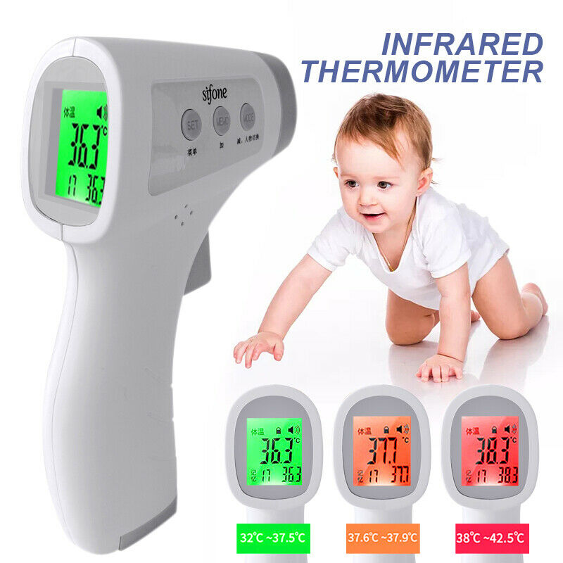 IR Infrared Digital Forehead Fever Thermometer Non-Contact Baby / Adult Body UK! 2
