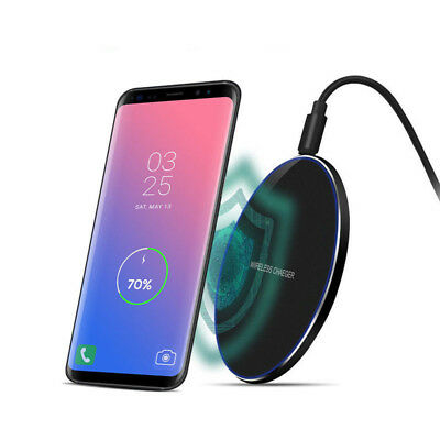 buy popular db968 7baf5 FOR APPLE IPHONE XS Max XR X 8 + Qi Wireless Fast Charger Charging Pad Mat  Metal