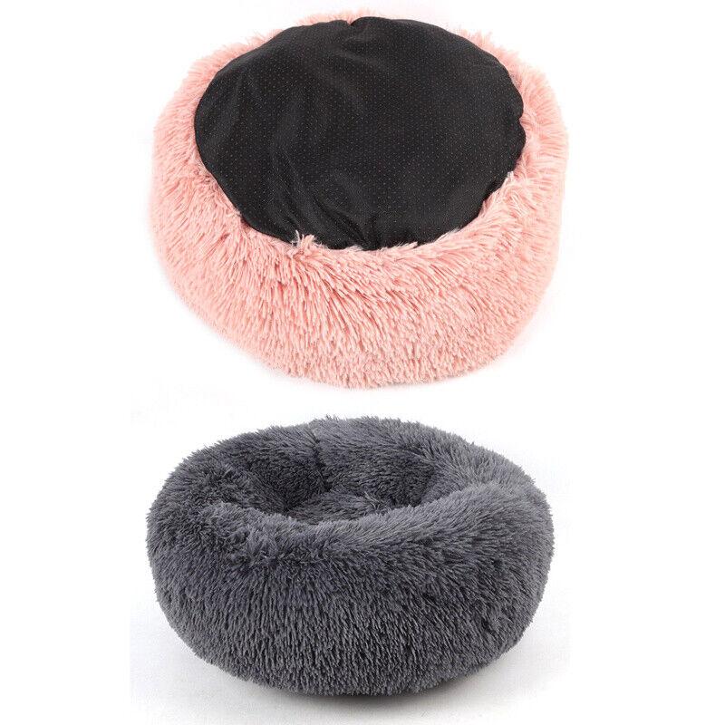 Hundebett Katzebett Haustier Hund Nest Kissen Weiches Waschbar Flauschige Plüsch 4