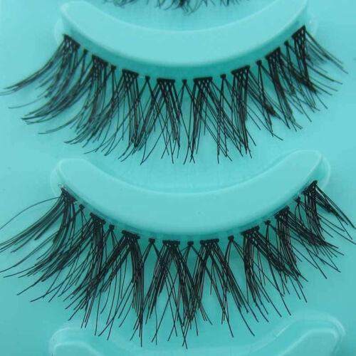 5 Paires Maquillage Cosmétique Faux Cils Noir Yeux Fait à la Main Naturel Épais
