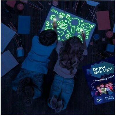 Light Up Drawing Fluorescent Magic Writing Board Kit Kids Fun And Developing Toy 3