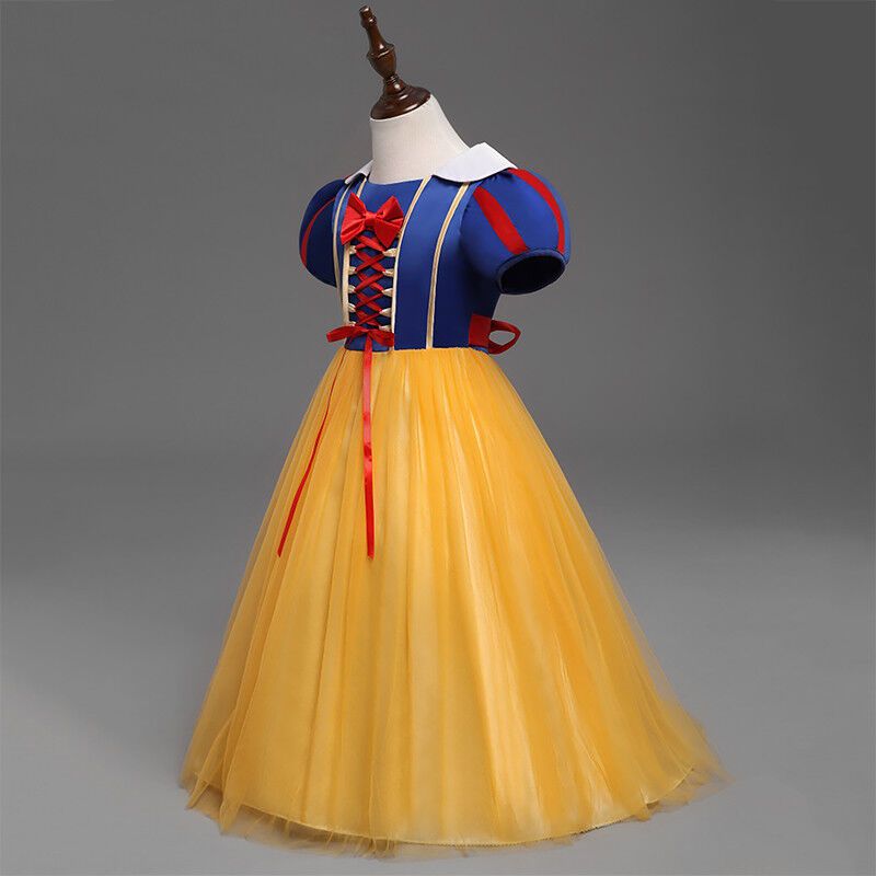 Kid Girls Snow White Princess Costume Fancy Halloween Party Dress Child Cosplay 7