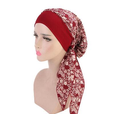 Women Cancer Hat Chemo Pirate Cap Muslim Hair Loss Head Scarf Turban Head Wrap 8