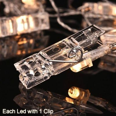 10/36/40 Photo Window Hanging Peg Clips LED String Lights Home Party Fairy Decor 4