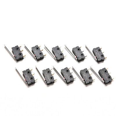 Chic 10PCS Taktschalter KW11-3Z 5A 250V Microswitch 3PIN Gürtelschnalle FL