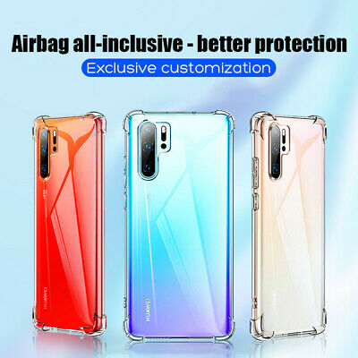For Huawei P30 Pro Mate 20 Transparent Airbag Shockproof Silicone Case Cover 2