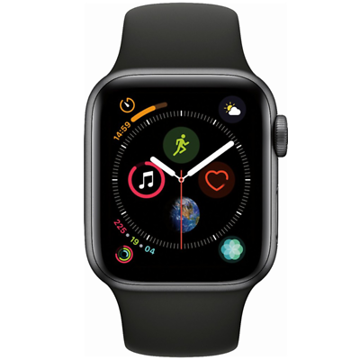 Apple Watch Series 4 GPS 44mm Space Gray Case with Black Sport Band MU6D2LL/A 2