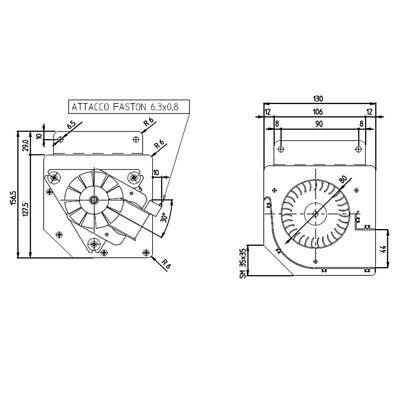 Ventola tangenziale per stufa a pellet EDILKAMIN IRIS cod 284870 CHIAMA X SCONTO 2