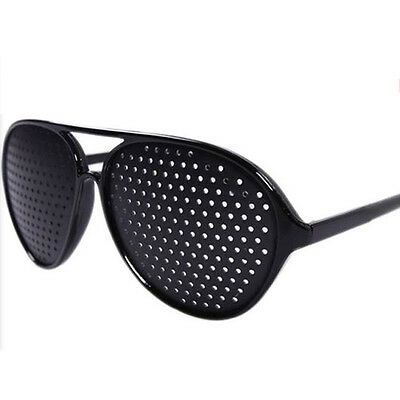 New Black Vision Care Eyesight Improver Anti-fatigue Stenopeic Pinhole Glas N8I5 5