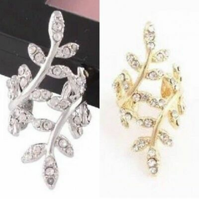 Womens Ear Cuff Earrings Wrap Fashion Clip On Punk Rock Cuffs Fake Stud Silver 3