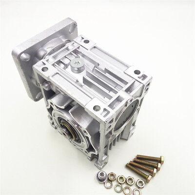 Worm Gear Reducer RV040 NEMA24/34 Speed Gearbox 10 15 20 25 30 40 50 60 80 100:1 7
