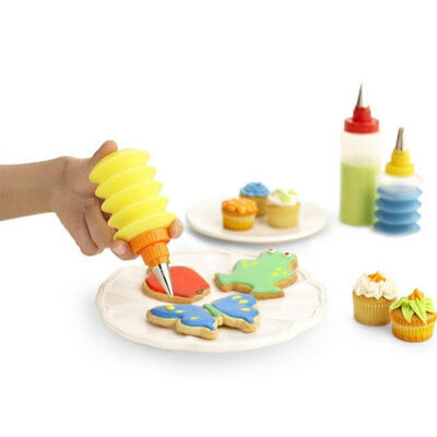 1pc Icing Piping Bottle With Nozzle Sugarcraft Cake Cupcake Cookie Biscuit Decor
