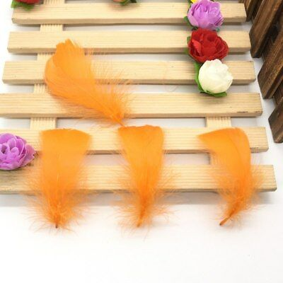 100 Pcs/Lot Natural 4-7cm/1-2 Inch Small Floating Goose Feather for Diy Carnival 11