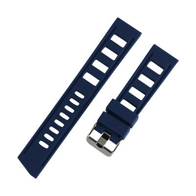 20/22mm Silicone Rubber Watch Band Strap Replacement Bracelet Spring Bars 7