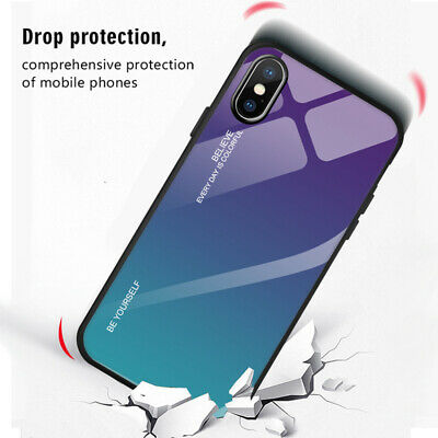 Tempered Glass Phone Case For Apple iPhone 11 Pro Max 6S 7 8 Plus X XS MAX XR 4