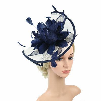 Feather Flower Hair Clip Women Vintage Fascinator Wedding Vintage Headpiece 2