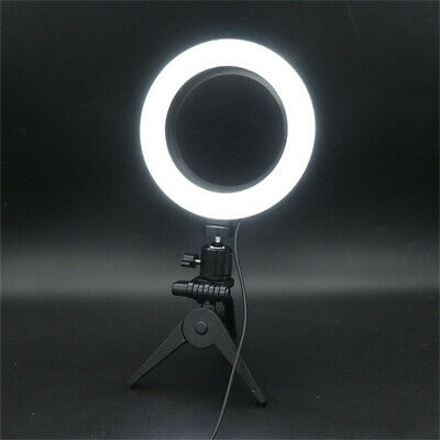 LED Ring Light Lamp Selfie Camera Phone Studio Tripod Stand Photo Video Dimmable 2