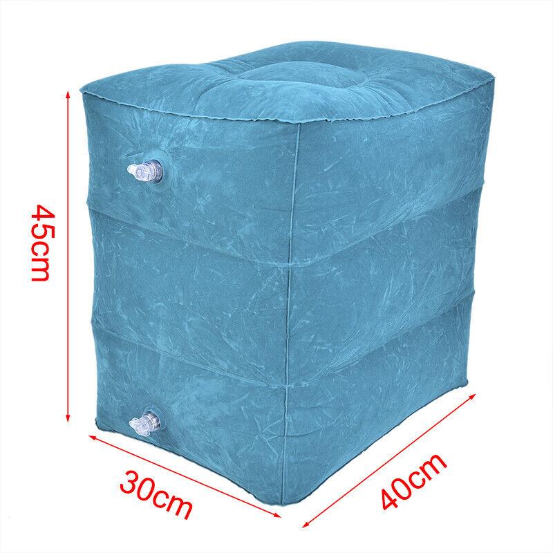 Inflatable Travel Footrest Leg Foot Rest Air Plane Pillow Pad Kids Bed PortMAEK 9