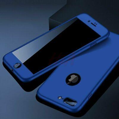 Coque 360 pour iPhone XS Max XR 6s 7 8 Plus 5 5S SE Protection Antichoc + Verre 7