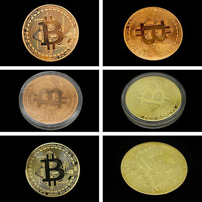 3PCS Bitcoin Commemorative Round Collectors Coin Bit Coin is Gold Plated Coins 4