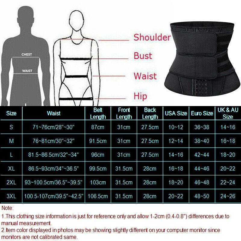 Men Weight Loss Waist Trainer Slimming Sauna Neoprene Slimming Body Shaper HOT 2