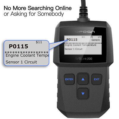 Car Vehicle Auto Diagnostic Scanner OBD2 EOBD OBDII Scan Tool Fault Code Reader 10