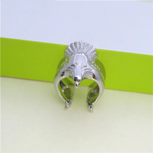 Women Ring Silver Color Long Angel Eagle Bird Wing Adjustable Band Jewelry RU 3