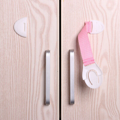 10pcs Baby Safety Protection Lock Kids Baby Anti-Clip Door Fridge Drawer Latches 10