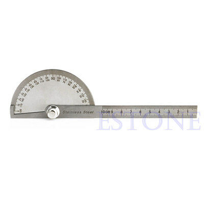 New Stainless Steel 180 degree Protractor Angle Finder Arm Measuring Ruler Tool 4