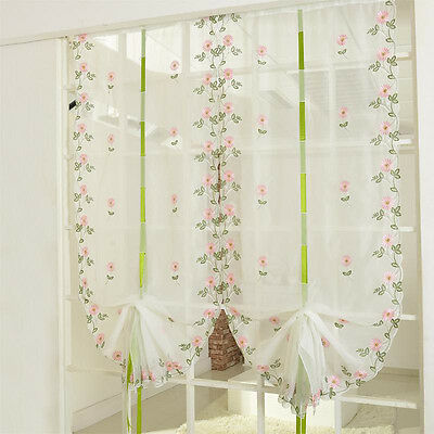 Voile Tulle Door Window Room Curtain Drape Divider Totem Floral Scarf Sheer