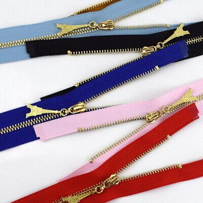 1Pc 20/40/50/60/70CM  Gold Teeth Metal Zips Sewing Zip Garment Accessories 4