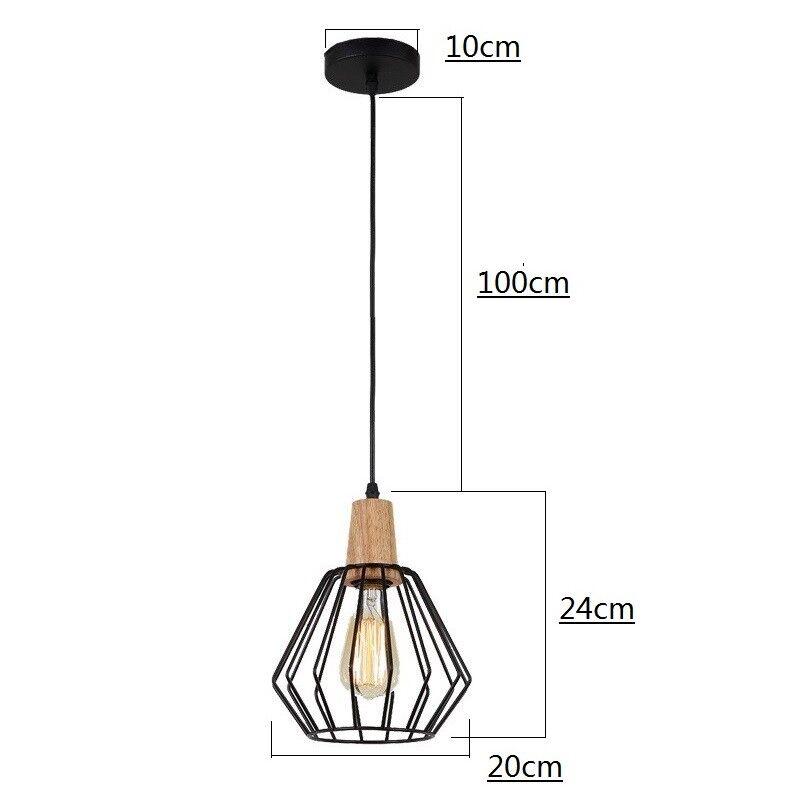 WOOD PENDANT LIGHT Modern Ceiling Lights Bar Lamp Kitchen