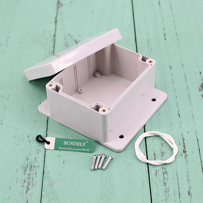 Waterproof ABS Plastic Electronics Project Box Enclosure Case Cover Screw New 7