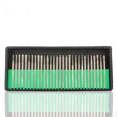 30pc Diamond Grinding Cutting Burr Set Dremel Drill Bits rotary tool die box 5