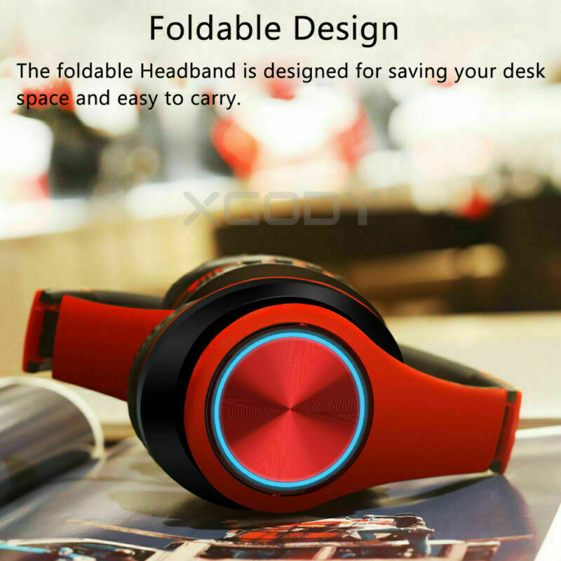 Wireless Headphones Stereo Bluetooth Headset Noise Cancelling Over Ear With Mic 9