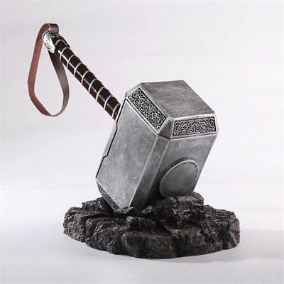 1:1 THE Avengers Full Solid Thor Hammer /Stand Base Replica Cosplay Prop Mjolnir 2