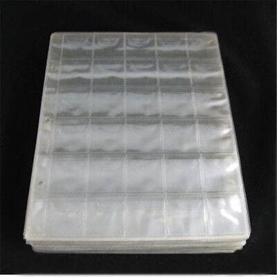 5x 30 Pockets Coin Holders Collection Storage Plastic Money Album Case Envelope 2