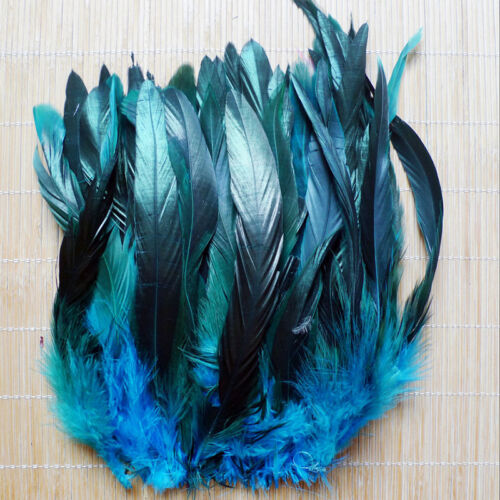 Wholesale 50/100pcs Beautiful Rooster Tail Feather 6-8inch/15-20cm Hot 9