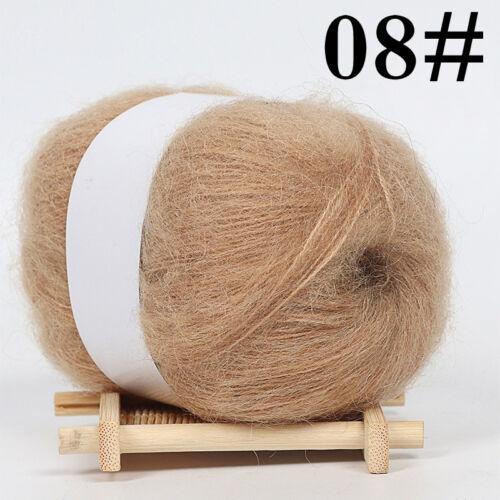 Soft Knitting Wool Yarn Mohair Cashmere Crochet Thread Hat Angora 1ballx50g