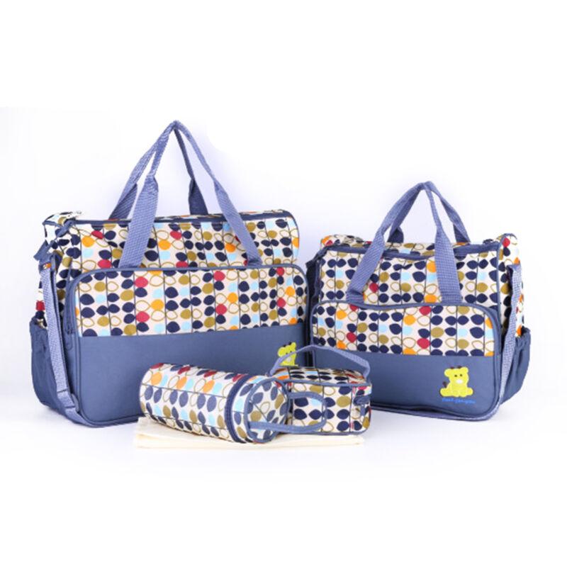 5pcs Waterproof Baby Nappy Diaper Changing Bag Travel Bottle Holder UK 9