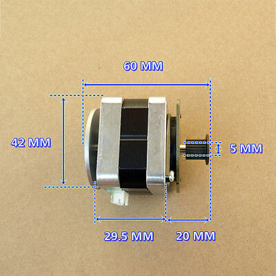 Minebea NEMA 17 42MM Stepper Motor Bracket Pulley Gear for 3D Printer CNC RepRap 2