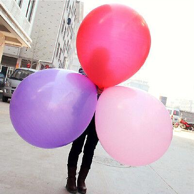 "36/"" Inch Giant Big Balloon Latex Birthday Wedding Party Helium Decor 7 Color MEC"