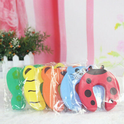 5/10pcs Children Baby Safety Cartoon Door Stopper Clip Clamp Pinch Hand Security 9