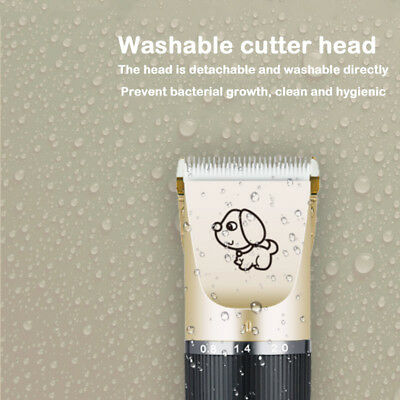 Rechargeable Cat Dog Clipper Cordless Pet Clippers Hair Shaver Grooming Trimmer 8